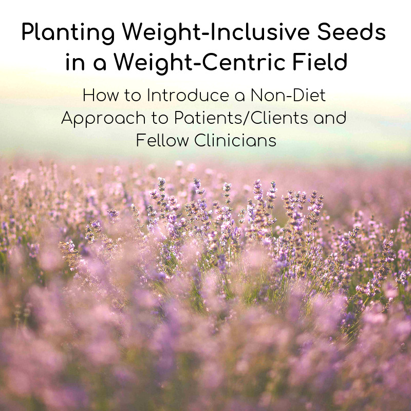 Planting Weight-Inclusive Seeds in a Weight-Centric Field