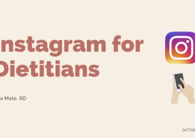 Webinar: Instagram for Dietitians