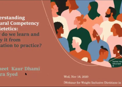 Webinar – Understanding Cultural Competency: How do we learn and apply it from education to practice?
