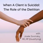 When A Client is Suicidal: The Role of the Dietitian with Josée Sovinsky, RD, RP (Qualifying)